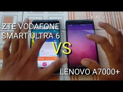 Speedtest comparison ZTE vodafone smart ultra 6 vs Lenovo a7000+