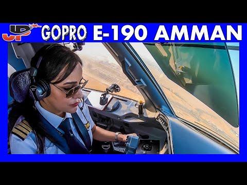 Embraer 190 Takeoff Amman Jordan | GoPro Flight Deck View