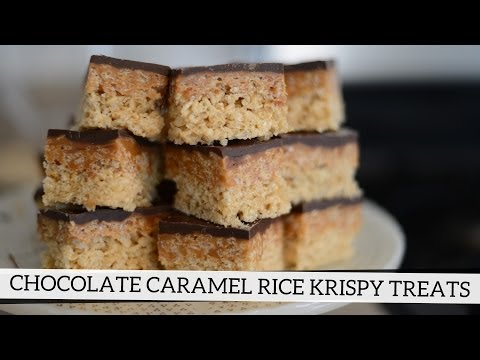 Chocolate Caramel Rice Krispy Treats