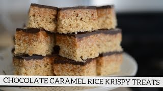 Chocolate Caramel Rice Krispy Treats