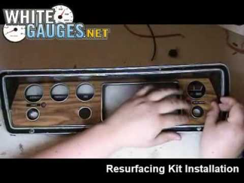 Installing A Woodgrain Resurface Kit On Your Dash Bezel