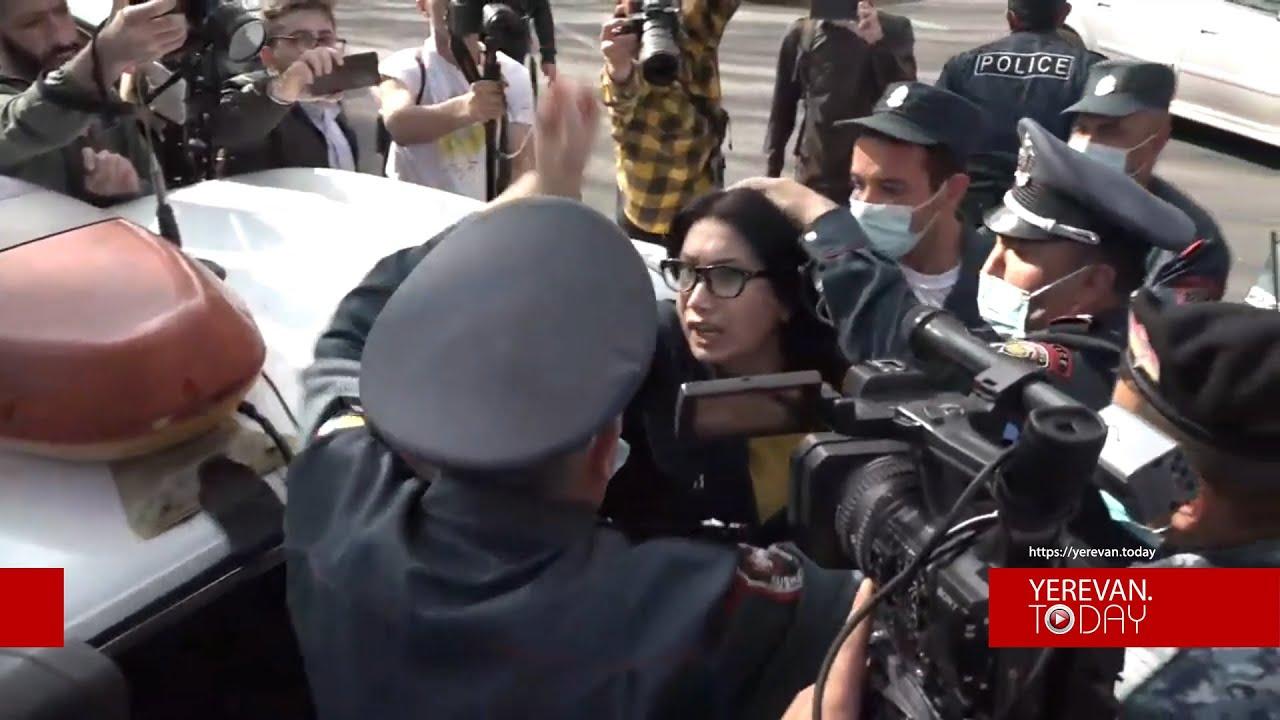 Լարված իրավիճակ՝ ԱԺ-ի մոտ․ Սոնա Աղեկյանը բերման ենթարկվեց - YouTube