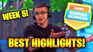 SUMMER SKIRMISH WEEK 5 BEST HIGHLIGHTS (Myth KILLS Ninja) | Fortnite Battle Royale