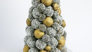 Oreo and Nutella Truffle Christmas Tower Tutorial- Rosie's Dessert Spot