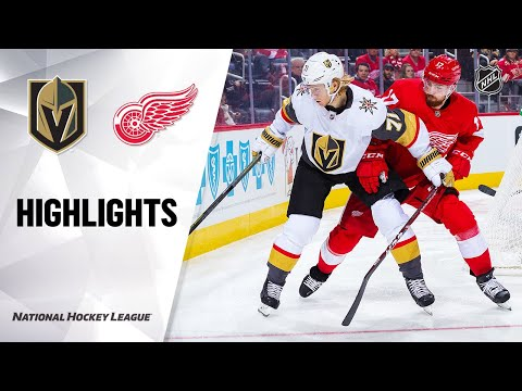 NHL Highlights | Golden Knights @ Red Wings 11/10/19