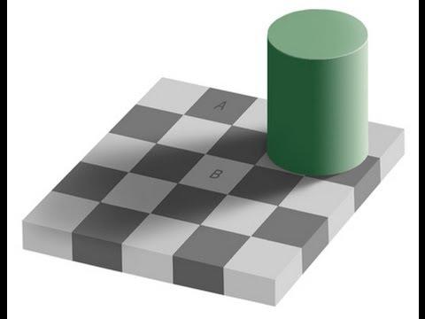illusion d 39 optique l 39 echiquier d 39 adelson youtube. Black Bedroom Furniture Sets. Home Design Ideas
