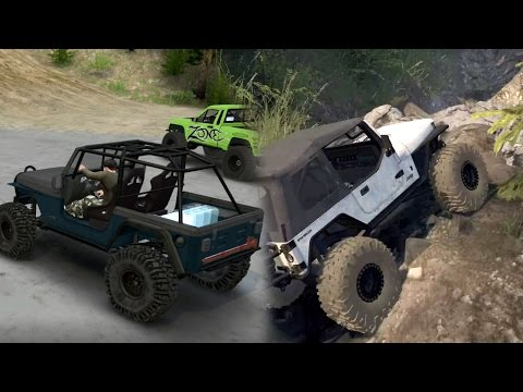 Spin Tires | PlanzXtreme4x4 Map, Let's Explore! | NEW JEEP TJ and YJ from Spun and Brute