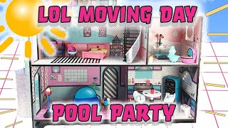 LOL Surprise Dolls NEW Doll House | Moving Day Part Two| With MC Swag, Go-Go Gurl, Foxy, & Dawn!