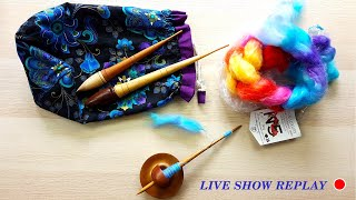 #livecraftnchat Support Spindle Spinning Video