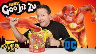 DC Comics Heroes Of Goo Jit Zu Flash, Lightning Bolt Fast, Adventure Fun Toy Review By Dad!