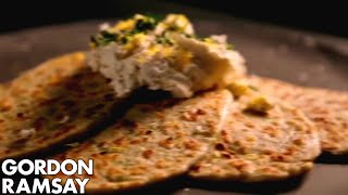 Leek Flatbreads With Ricotta And Lemon - Gordon Ramsay