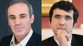 Chess. Kramnik against Kasparov: stunning queen sacrifice!