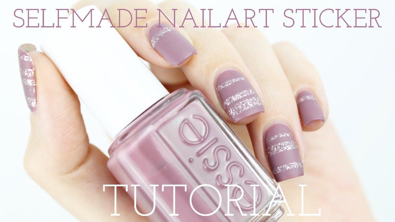 Nagelsticker Selber Machen Mauvy Nails Tutorial Carovilina Youtube