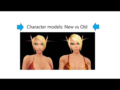Character model comparison (Old vs New models) - World of Warcraft