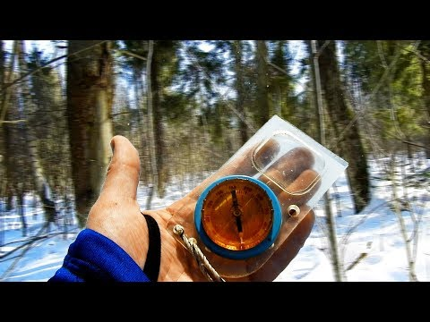 [РВ] Движение по АЗИМУТУ в густом лесу по компасу, ориентирование