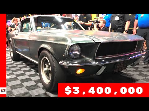 Bullitt 1968 Ford Mustang GT Sold for $3.4 million