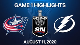 NHL Highlights | 5 OT GAME | Blue Jackets vs. Lightning, Game 1 – Aug. 11, 2020