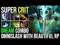 Dream Cancer Combo Come True - Juggernaut Super Crit Omnislash With Beautiful RP Combo 24KIll Dota 2