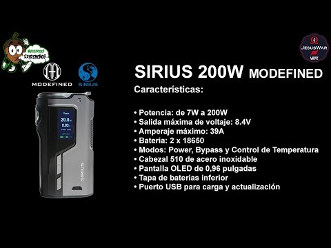 🔶 Unboxing SIRIUS MODEFINED 200W BOX MOD by Lost Vape