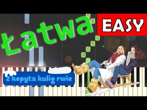🎹 Z kopyta kulig rwie (Kulig, Skaldowie) - Piano Tutorial (łatwa wersja) 🎹