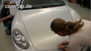 Carwrap Porsche Cayman 3M aluminium brushed  Folierung Autofolierung Carwrapping