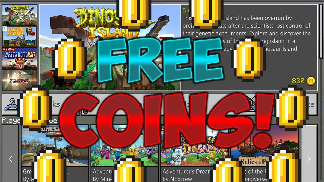 How To Get Free Marketplace Coins Minecraft Pe Pocket Edition