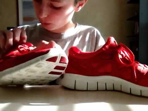 best sneakers 9b2e0 df474 Nike free run +2 red review - YouTube