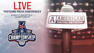 2019 American Women's Basketball Championship Postgame Press Conference (Game 2 ECU vs SMU)