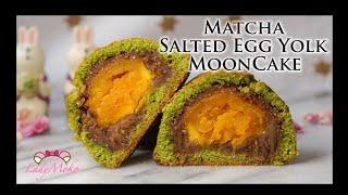 Matcha Salted Egg Yolk MoonCake RecipeTaiwanese DessertLadyMoko
