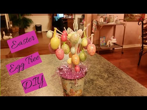 Dollar Tree | Walmart Easter Egg Tree DIY