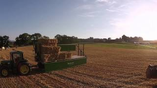 Organic farm in switzerland 🇨🇭 100% John deere with a trailer krassort