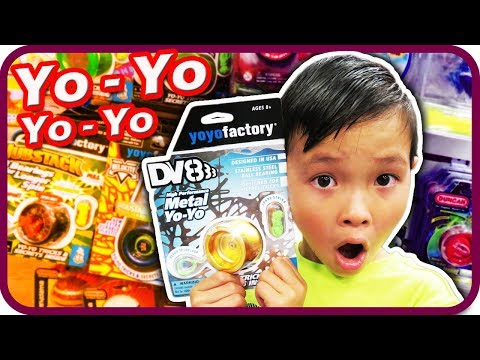 Kid First YOYO Tricks Fail, New Gold Yoyo Factory DV8 From Toy Stores - TigerBox HD