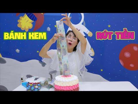 Làm Chiếc Bánh Kem Rút Tiền Mừng Sinh Nhật Chị Thơ Nguyễn