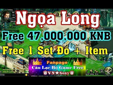 《WebGame Lậu》Ngọa Long VH Free 47,000,000 KNB + Set Đồ + Item – #227