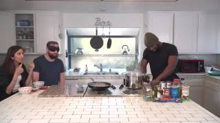 Blindfolded Man Tries To Smell What Trevante Rhodes Is Cooking