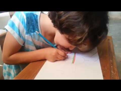 ابداع في رسم المسجد الأقصى من إحدى طالبات الصف الرابع في مدرسة الأقصى