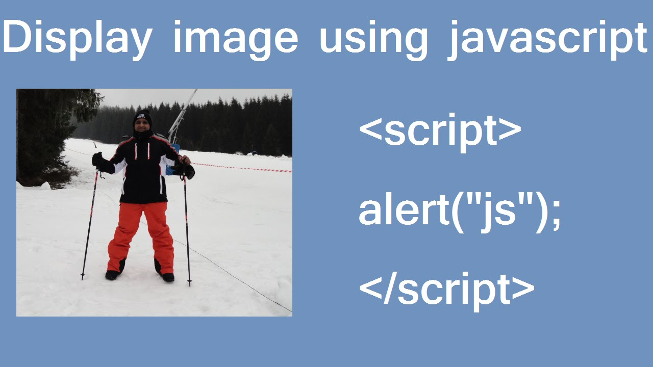 display image using js in HTML - YouTube