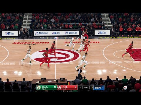 NBA LIVE 19 NEW PATCH 1.15 - Boston Celtics vs Atlanta Hawks - CPU SIM Full Game - PS4 PRO - HD