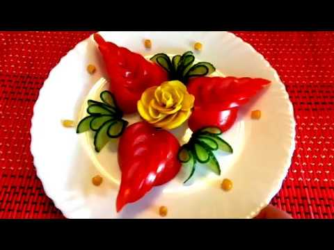 Vegetable Carving With Tomato HOW TO MAKE CAR...