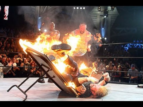 Where Pro Wrestling Goes To Die The Flaming Table Youtube
