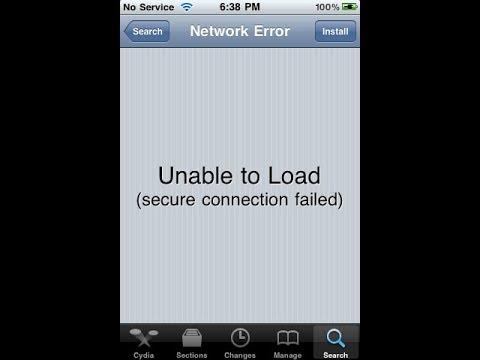 Cydia Unable To Load Network Error Fix