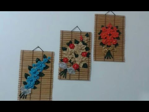 DIY Home Decor How to Make Fabric Flower for Wall Decor Easy