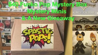 $40 Funko Pop Mystery Box/Minis & A Giveaway