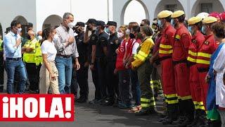 Los Reyes se acercan a una de las zonas más afectadas por el volcán de La Palma