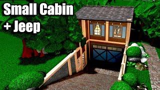 Bloxburg: Small Cabin + Jeep 210K • Roblox