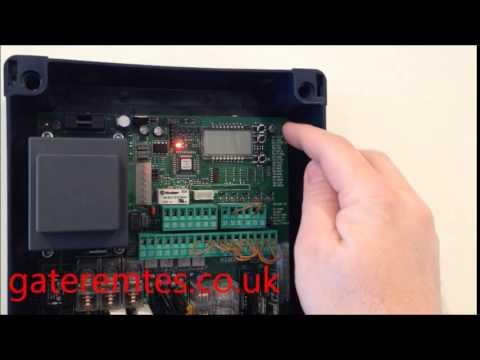 Programming BFT Mitto 2 & 4 Garage & Gate Remote Control to a Control Board