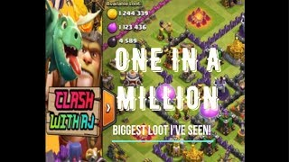 One In A Million - Clash of Clans with AJ - Biggest Loot I've Ever Seen