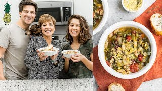White Bean Escarole Soup w/ Chris' Mom | Vegan Italian
