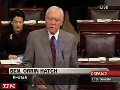 Sen. Hatch (R-UT) Defends Trent Lott