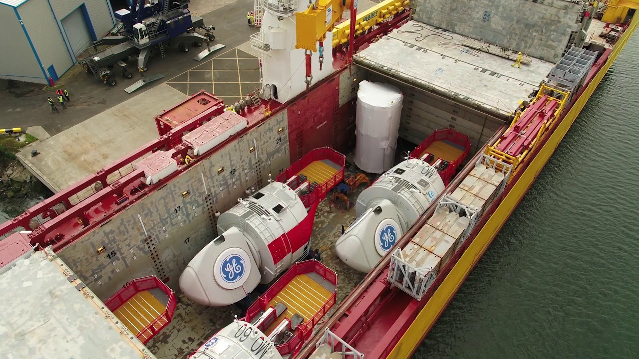 GE's Haliade 150-6MW nacelle arrives in the UK | Press releases